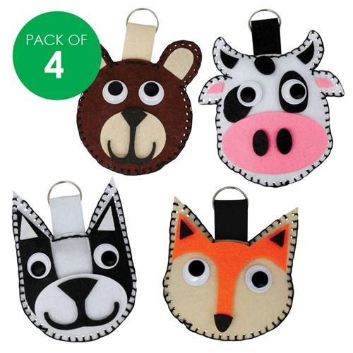 Felt Animal Sewing Bag Tags CleverKit Multi Pack - Pack of 4