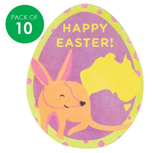 Easter Bilby Sand Art Shapes - Pack of 10