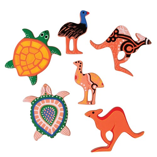 Terracotta Australian Animals - Pack of 6