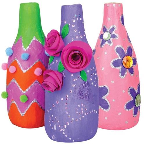 Colourful Papier Mache Vases Papier Mache Cleverpatch