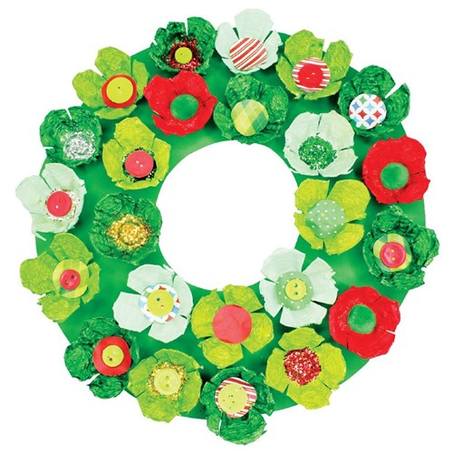 Christmas Egg Carton Wreath Christmas Cleverpatch