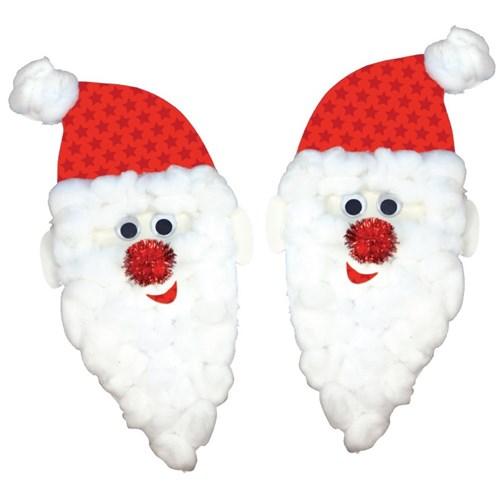 Paper Santa Face Christmas Cleverpatch Art Craft Supplies