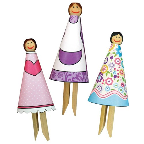 Dolly Peg Dolls Wood Cleverpatch Art Craft Supplies