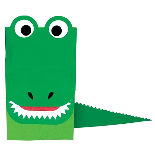 Crocodile Paper Bag Puppet Masks Amp Puppets Cleverpatch