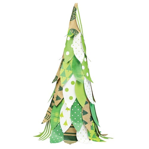 Paper Leaves Tree Christmas Cleverpatch Art Amp Craft