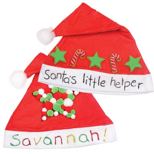Decorated Santa Hats Christmas Cleverpatch Art Craft Supplies