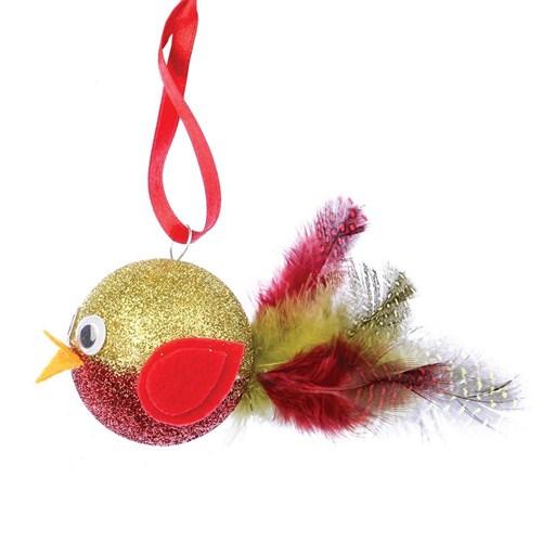 Decofoam Ball Robin Christmas Cleverpatch Art Craft Supplies
