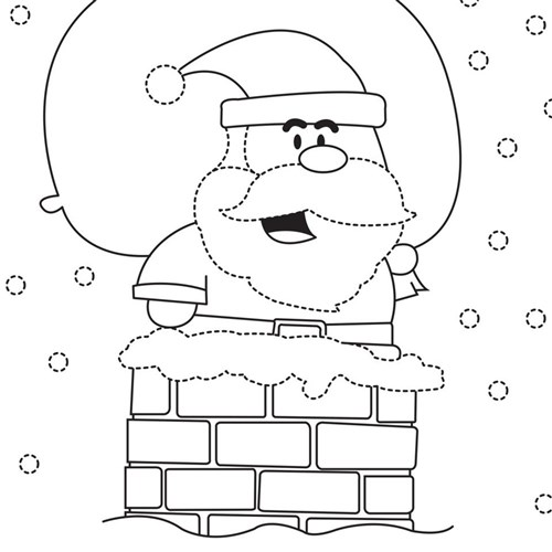blackline christmas coloring pages - photo#4