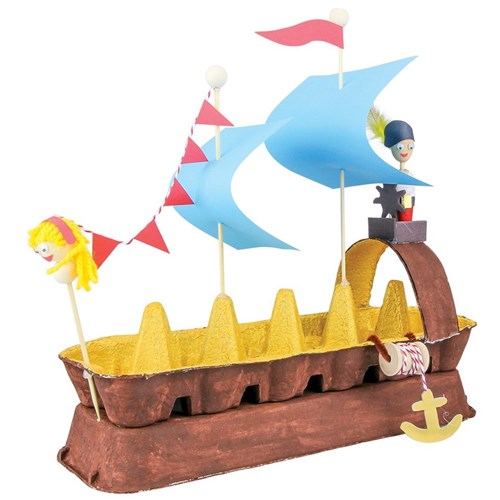 Egg Carton Pirate Ship Paper Amp Card Cleverpatch Art