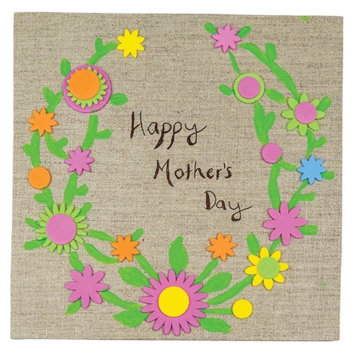 Happy Mother S Day Natural Canvas Mother S Day Cleverpatch Art