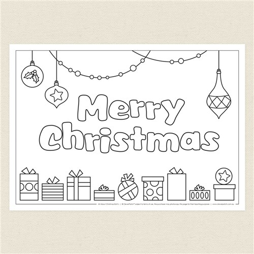 blackline christmas coloring pages - photo#2