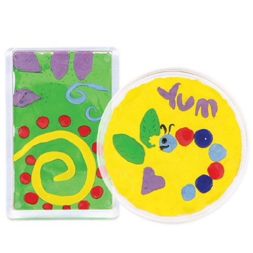 Bright CleverClay Magnet & Coaster