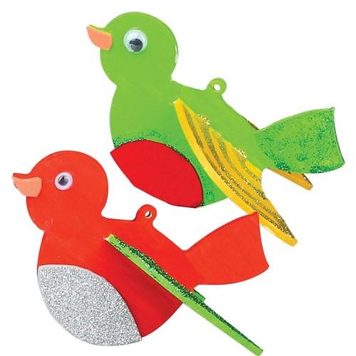 3d Wooden Robin Christmas Cleverpatch Art Craft Supplies