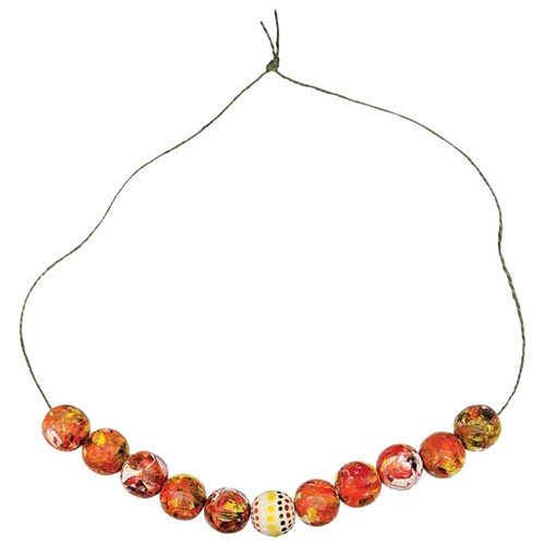 NAIDOC Paint Rolled Bead Necklace