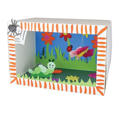 Miniature Children S Bedroom Room Box Diorama: Minibeasts & The Garden