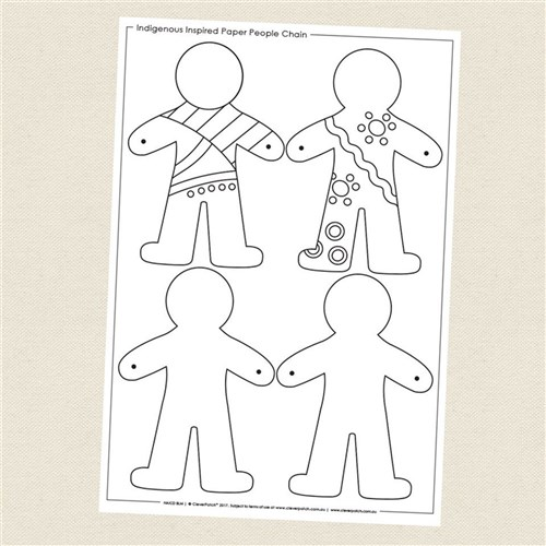 Paper People Art Chain