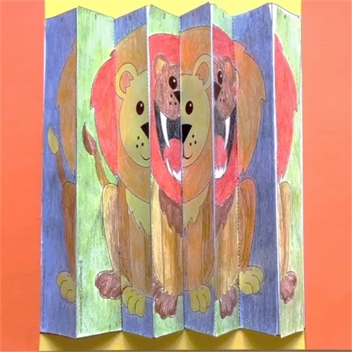 Optical Illusion Lion