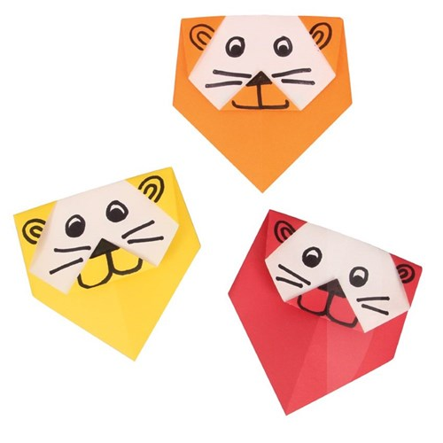 Origami Lion Face