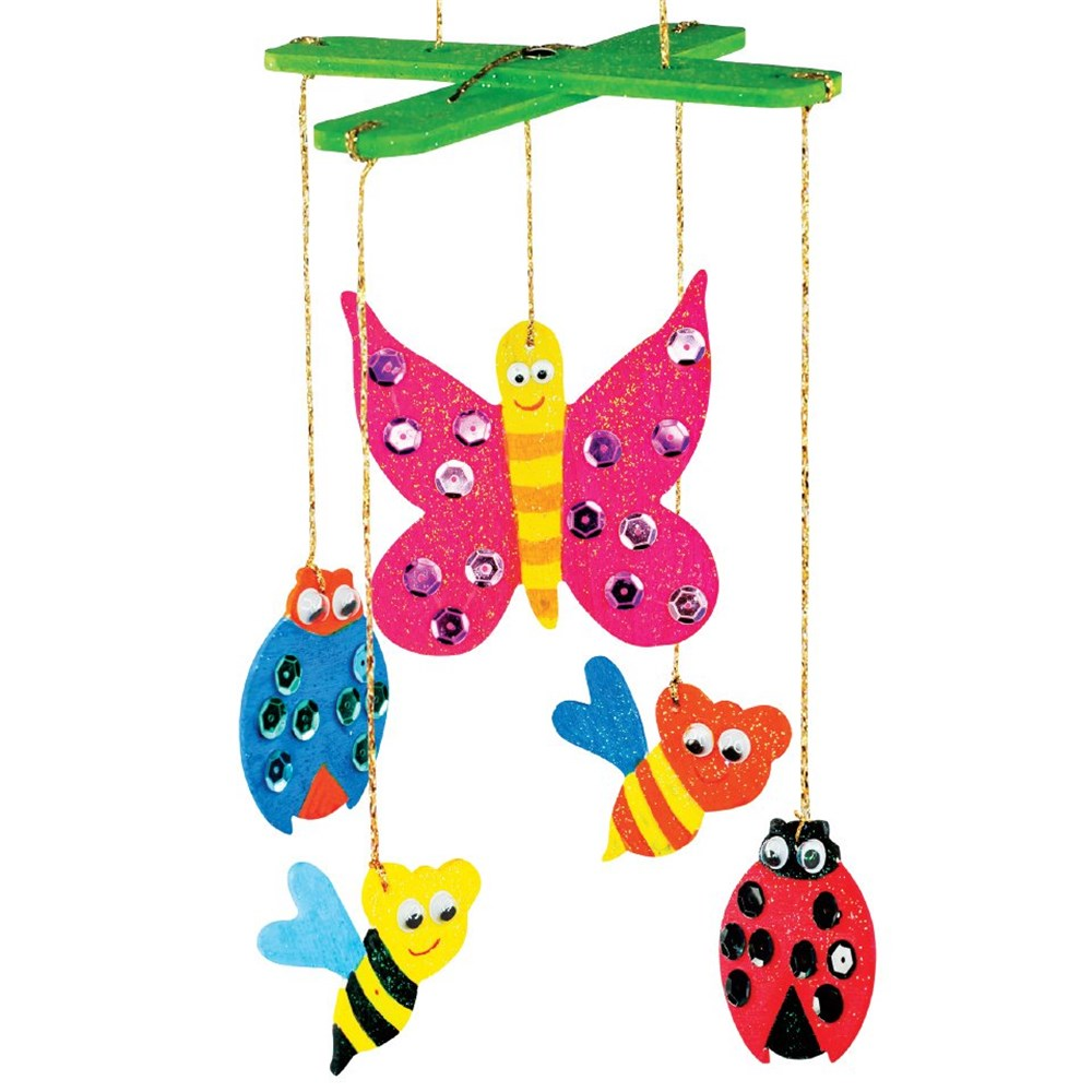 Wooden Insect Mobile Wood Cleverpatch Art Amp Craft