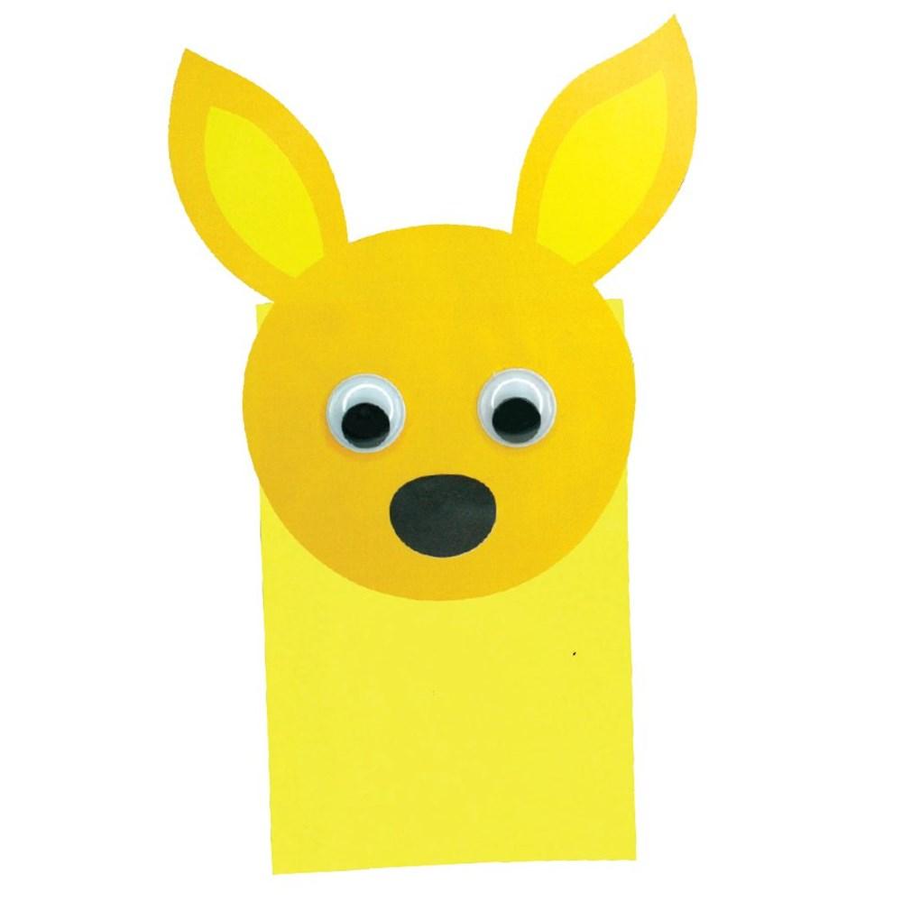 kangaroo puppet template - kangaroo paper bag puppet masks puppets cleverpatch