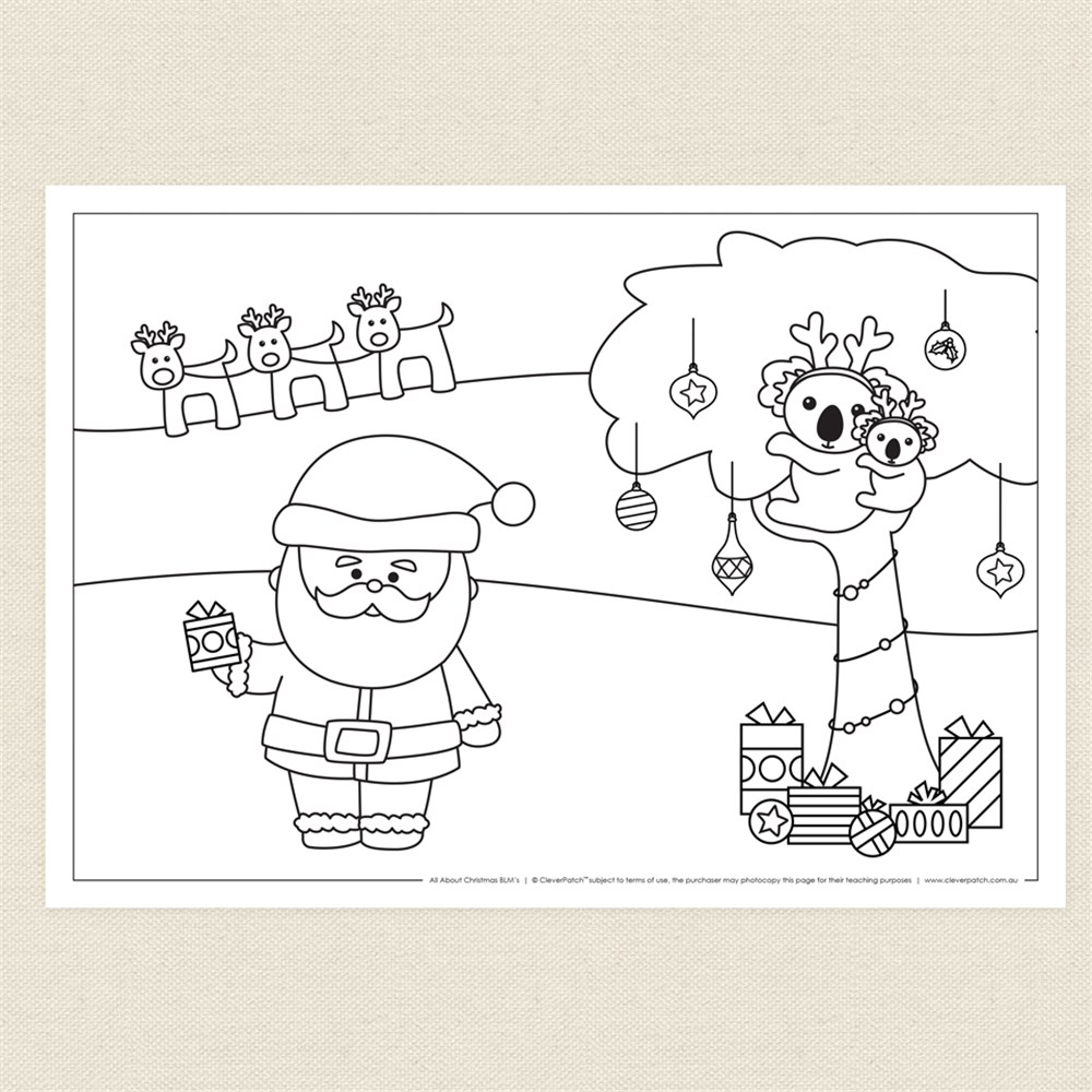 blackline christmas coloring pages - photo#3