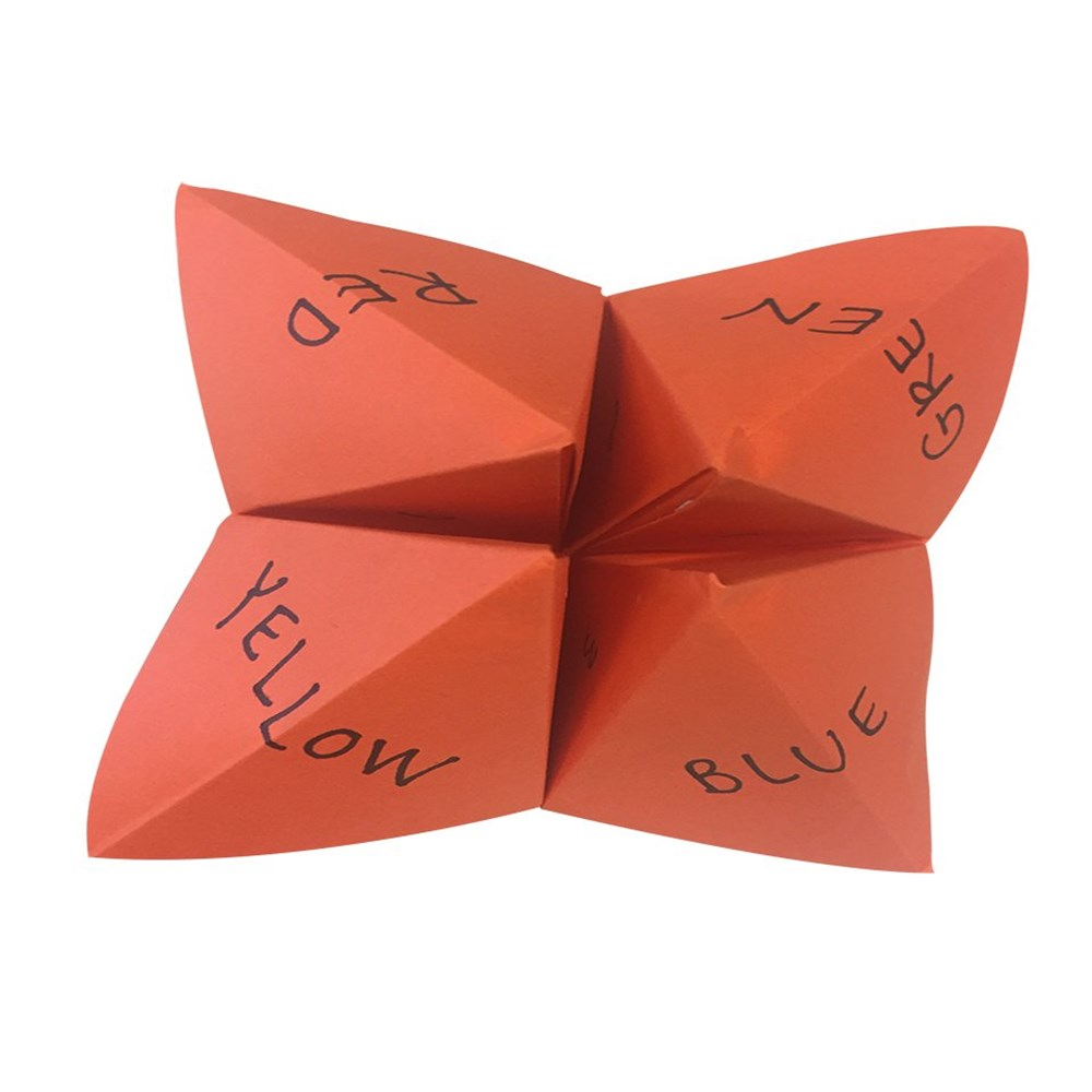 how to make a chatterbox with square paper